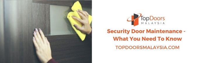 Security Door Maintenance
